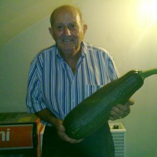 En Siset de Can Ginesta triomfa amb el carbassó més gros de Vilobí!