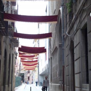 un carrer adornat del renaixement