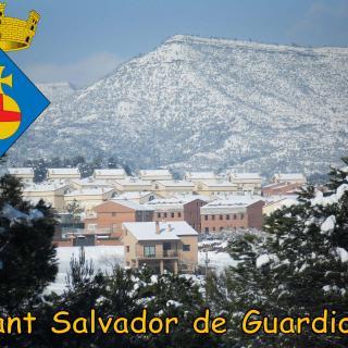 Vista parcial de Sant Salvador de Guardiola
