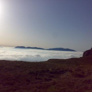 Vista de la Serra Aitana des del Montcabrer (serra Mariola)