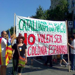 Manifestació independentista a Barcelona