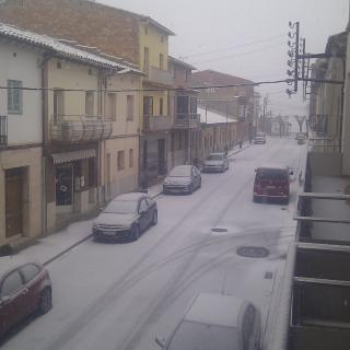 La neu també ha enfarinat el poble d'Avinyó