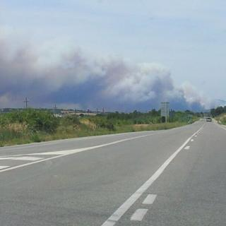 Incendi a la Jonquera