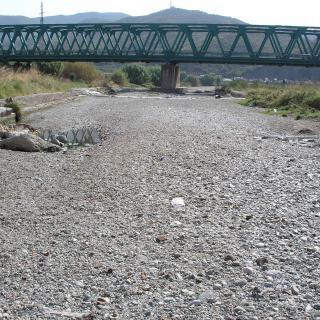 Foto des del llit del riu