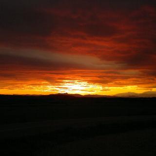 posta de sol espectacular