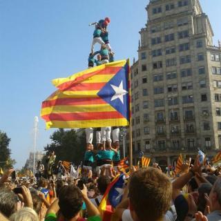 Diada Nacional de Catalunya 2012 amb els castellers de Vilafranca