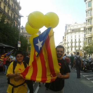 Inici de la manifestació (Diada 11-09-2012)