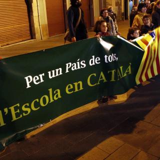 Més de 600 persones han protestat a Manresa contra la reforma educativa de Wert