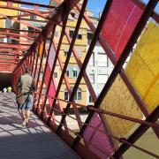 Girona. Pont de les Girona. Pont de les Peixateries Velles amb part del muntatge que hi va per Temps de FlorsJordi Nadal/EL PUNT