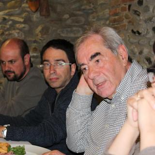 L'Enrnest Maragall amb alguns dels convidats