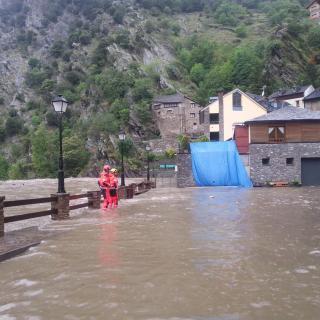 Llavorsí inundat per l'aigua