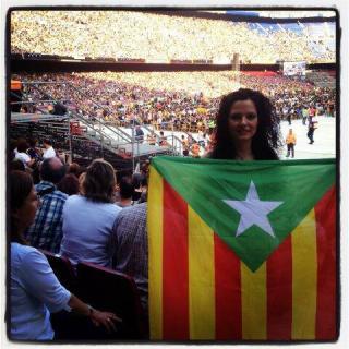 L'ESTELADA VERDA era present al Concert per la Llibertat. LLIBERTAT PER LA TERRA I LA NATURA!