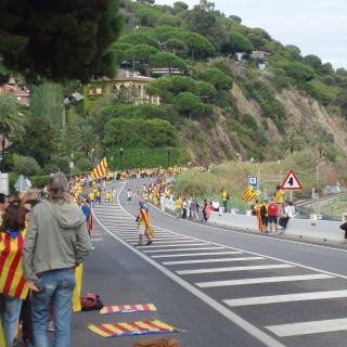 entre Sant Pol de Mar y Calella