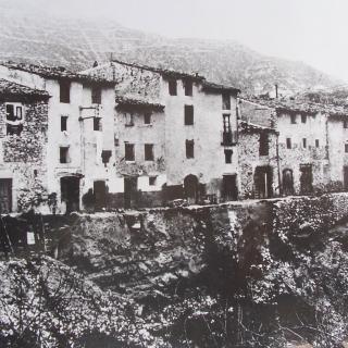 Lo carrer del Balç quan es va esfondrar.