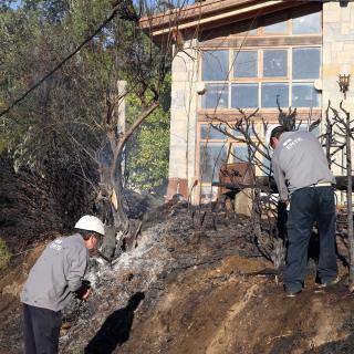 Desperfectes a conseqüència de l'incendi a Foixà