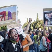 Manifestació a favor de la República a la Puerta del Sol de Madrid