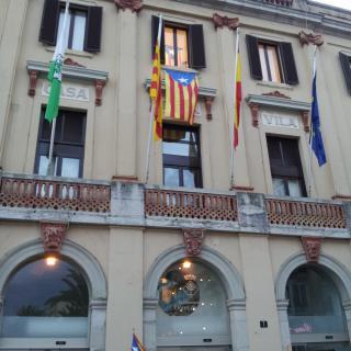 Estelada a l'Ajuntament de Lloret de Mar