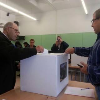 En Falet, amb 105 anys, vota a Blanes