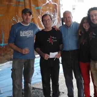 CanetdeMar_JoaquimCampassol_El grup d'artistes de Canet pintant un mural a l'institut Domènec i Montaner