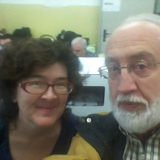 Joan Abello amb escriptora Liz Castro