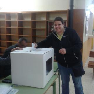 Rake Costa, exercint el vot