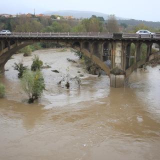 El riu Fluvià al seu pas per Besalú