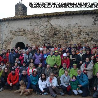 MÉS D'UN CENTENARS DE CAMINAIRES VAN PARTITICAR EN L'ACTIVITAT DE SANT ANTONI DE VILAMAJOR, JUNTAMENT AMB ELS CAMINAIRES DE VILAMAJOR