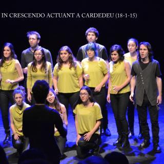 CONCERT DE LA CORAL IN CRESCENDO AL CENTRE CULTURAL DE CARDEDEU AMB 300 ESPECTADORS GAUDINT