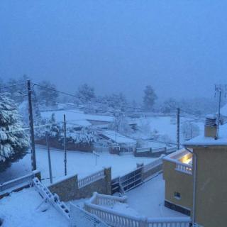 matge del paisatge nevat a Vallirana