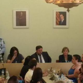 Oriol Junqueras, durant el ple d'investidura de l'Ajuntament de Sant Vicenç dels Horts