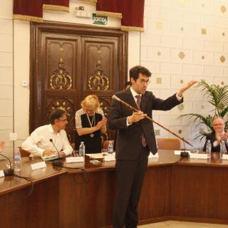 Albert Batalla després de ser investit alcalde de la Seu
