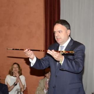 Valentí Junyent un cop reinvestit alcalde