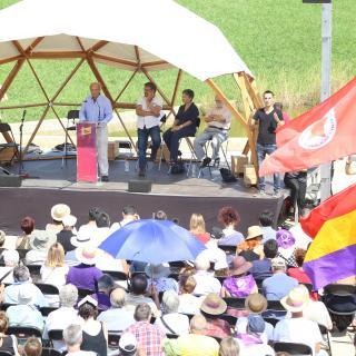Acte d'En Comú Podem aquest 11 de Setembre en commemoració de la Diada del 1976 a Sant Boi de Llobregat