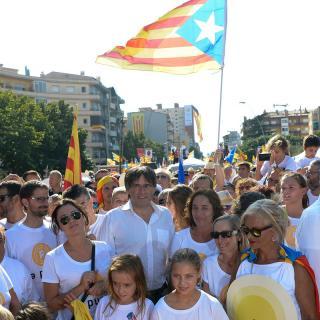 Molts manifestants es van voler fotografiar amb el president Puigdemont