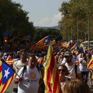 Barcelona. Fotografies de la manifestació de Barcelona al passeig Sant Joan 2016