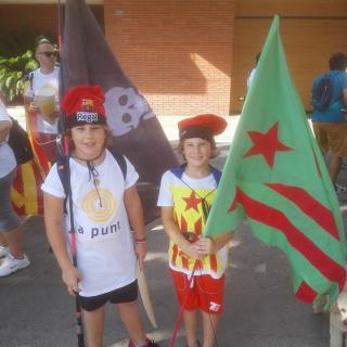 Els petis de Can Joan i Mig sempre lluitant per Calonge i Catalunya