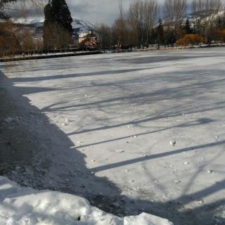 Llac de Puigcerdà congelat