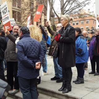 Concentració a la Plaça del Rei en suport a Homs
