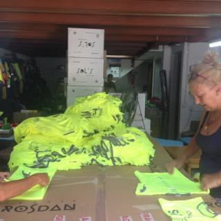 Samarretes oficials de l'ANC fetes al Maresme a l'empresa Rosdan&Imago de Mataró