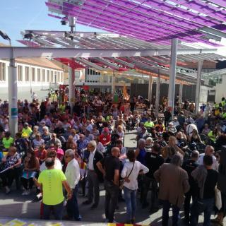 Marató per la Democràcia, a la Plaça Universitat de Canet de Mar