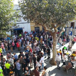 Marató per la Democràcia, davant de l'Ajuntament d'Argentona