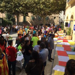 Marató per la Democràcia, davant de l'Ajuntament de Sant Andreu de Llavaneres
