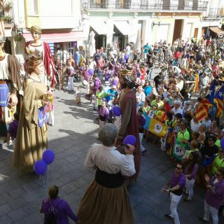 Marató per la Democràcia, a la Plaça de l'Ajuntament de Calella