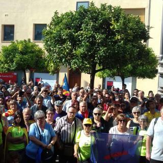 Marató per la Democràcia, a la Plaça Catalunya de Pineda de Mar