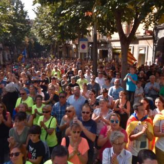 Marató per la Democràcia, davant de l'Ajuntament de Mataró