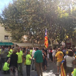 Marató per la Democràcia, davant de l'Ajuntament de Premià de Mar