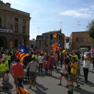 Marató per la Democràcia, davant de l'Ajuntament de Vilassar de Dalt