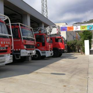 Parc de bombers a Pineda de Mar