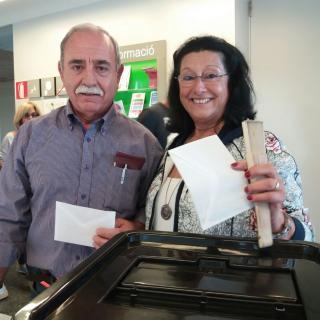 Feliços per haver votat sense problemes a Quart