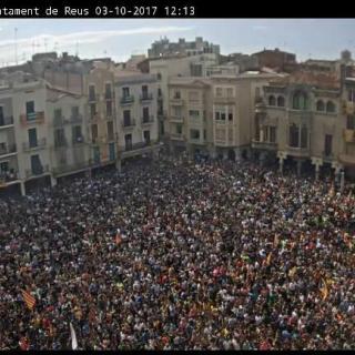 Concentració contra la repressió a Reus